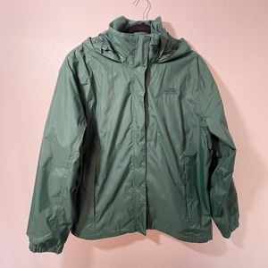 The North Face Plus Size Hunter Green Zip Up Rain Jacket Size XXL